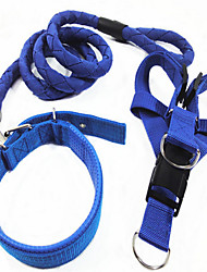 Dog Collar Safety Solid Blue Denim