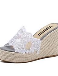 Feminino-Chinelos e flip-flops-ConfortoRosa / Branco / Cinza-PVC-Casual