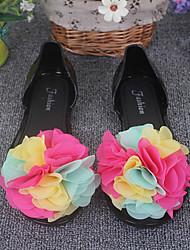 Women's Sandals Summer Others / Comfort PVC Dress Flat Heel Flower Yellow / Green / Purple / Red