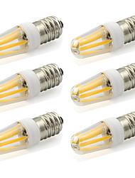 2W E14 LED à Double Broches T 4 COB 190 lm Blanc Chaud / Blanc Froid Décorative AC 100-240 V 6 pièces