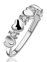 Jewelry Women Alloy Silver Heart Ring