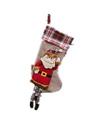 Decoração Decoração Para Festas Ternos de Papai Noel Tecido / Algodão Para Meninos / Para Meninas
