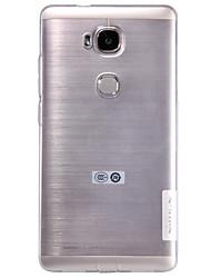 Для Кейс для Huawei Ультратонкий / Прозрачный Кейс для Задняя крышка Кейс для Один цвет Мягкий TPU Huawei Huawei Honor 5X