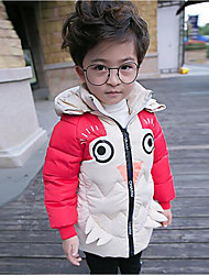 Boy Casual/Daily Color Block Down & Cotton Padded,Cotton / Polyester Winter Long Sleeve