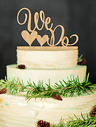 Wooden cake inserted fine decoration Birthday party wooden cake inserted