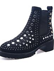 Women's Boots Spring Fall Winter Others Leather Outdoor Dress Casual Low Heel Sequin Black Green Others