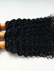 6A 3pcs 50g Black Kinky Curly Wave Human Hair Weaves Indian Texture Human Hair Extensions