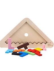 Blocos de Construir para presente Blocos de Construir Triângulo Madeira Arco-Íris Brinquedos