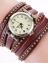 Vintage Genuine Leather Strap Rivet Watches Casual Women Quartz Watch Clock Gift