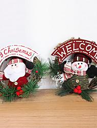 20cm Santa Claus  Snowman  Decorative Wreaths