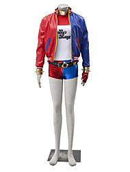 Costumes de Cosplay Superhéros Cosplay de Film Rouge Manteau Pantalon Gants Tee-shirt Halloween Noël Nouvel an Masculin Féminin Cuir Lycra