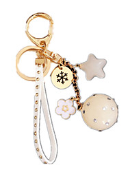 Key Chain Leisure Hobby Key Chain Circular Metal White For Boys / For Girls