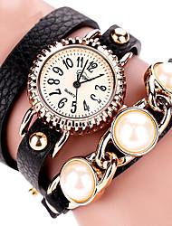 Femme Montre Tendance Montre Bracelet Bracelet de Montre Quartz Coloré Polyuréthane Banderétro Bohème Perles Charme Bracelet Cool Pour