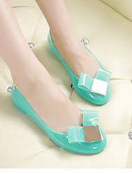 Women's Flats Spring Summer Jelly Shoes Latex Outdoor Casual