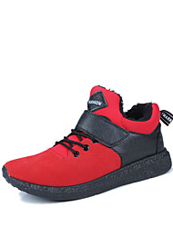 Men's Sneakers Winter Others / Comfort PU Outdoor / Casual Flat Heel Magic Tape / Lace-up Black / Red Walking / Others