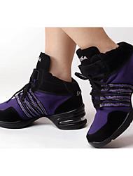 Non Customizable Women's Dance Shoes Fabric Fabric Dance Sneakers Sneakers Cuban HeelPractice / Beginner / Professional / Indoor /