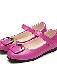 Girl's Flats Comfort PU Casual Black / Pink / Red / White / Peach