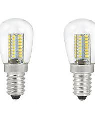 5W E14 Lâmpada Redonda LED C35 104PCS SMD 3014 500 lm Branco Quente / Branco Frio Decorativa AC 220-240 V 2 pçs