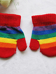 унисекс полиэстер кончики пальцев длина запястье, радуга случайный зима