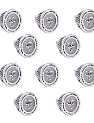 3W GU5.3(MR16) Lâmpadas de Foco de LED T 3 SMD 3030 300 lm Branco Quente / Branco Frio Regulável / Decorativa DC 12 / AC 12 V 10 pçs