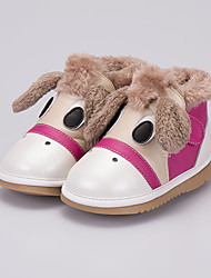 Girl's Boots Comfort Leather Casual Pink Coffee