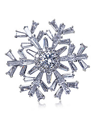 snowflake Brooch Pin For Women Cubic Zirconia Wedding Garment Accessories Jewelry Brooch Christmas Gift