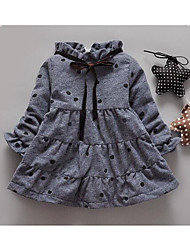 Girl's Casual/Daily Polka Dot Dress,Cotton Winter / Fall Long Sleeve