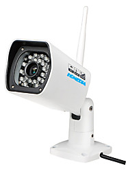 HOMEDIA® Outdoor Full HD Waterproof 720p 6mm 1/2.7'' CMOS IP Camera P2P 24Leds IR Night Vision Mobile View