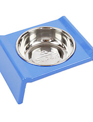 Кошка / Собака Кормушки Животные Чаши и откорма Водонепроницаемость / Отражение / На каждый день Голубой Пластик / Нержавеющая сталь