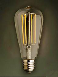 4W E26/E27 Ampoules à Filament LED ST64 4 SMD 2835 320 lm Blanc Chaud Décorative V 1 pièce