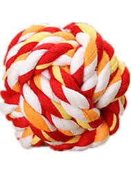 Dog Pet Toys Ball Rope Red / Green / Orange Cotton