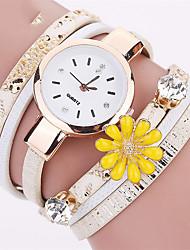 Femme Montre Tendance / Montre Bracelet / Bracelet de Montre Quartz Coloré PU BandeVintage / Fleur / Bohème / Charme / Bracelet / Cool /