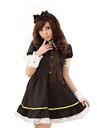 Princesse Conte de Fée Fête / Célébration Déguisement d'Halloween Noir Couleur Pleine Robe Plus d'accessoires Coiffure Halloween Carnaval