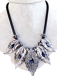 Colliers Tendance Strass Col Bijoux Mariage / Soirée / Quotidien Forme de Feuille Original Gemme Femme 1pc Cadeau Bleu royal