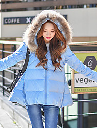 DABUWAWA Women's Regular Down CoatCute / Street chic / Sophisticated Going out / Casual/Daily / Holiday Hoodie Designed