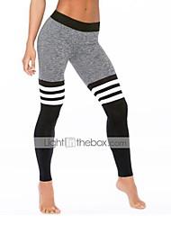 Mujer Pitillo Pantalones de Deporte Pantalones,A Rayas Casual/Diario Activo Tiro Alto Elasticidad Poliéster Eslático Otoño / Invierno