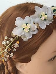 Femme Alliage / Acrylique / Tissu Casque-Mariage / Occasion spéciale / Décontracté Serre-tête / Peigne / Fleurs 1 Pièce