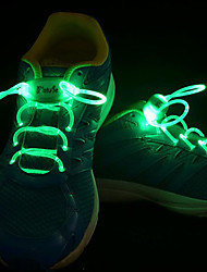LED Light Up пвх для шнурков носимых синий / желтый / зеленый / розовый / красный / оранжевый