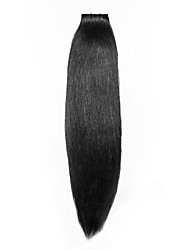 20PCS Tape In Hair Extensions Dark Black  40g 16Inch 20Inch 100% Human Hair For Women