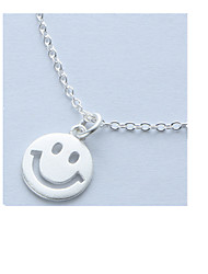 Necklace Pendant Necklaces Jewelry Daily / Casual Circular Design Sterling Silver Women 1pc Gift Silver
