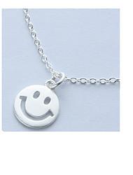 Colliers Tendance Pendentif de collier Bijoux Quotidien / Décontracté Circulaire Argent sterling Femme 1pc Cadeau Argent