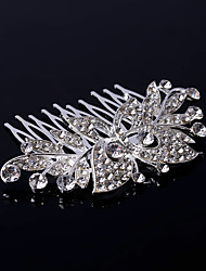 Women's Rhinestone AAA zircon Butterfly Headpiece-Wedding Flower Combs Hair Jewery(9*7cm