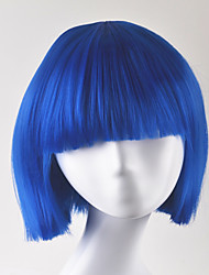 Europe and United States fashion Qi Liu party ballBOBO blue short hair high temperature wire wigs