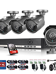 ANNKE 8CH CCTV System Camcorder 720P AHD DVR 4PCS  1.0 MP IR Outdoor Security Camera Surveillance System with 1TB
