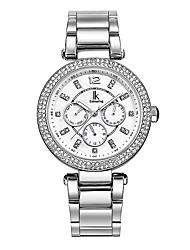 Women's Fashion Watch Wrist watch Calendar Water Resistant / Water Proof Imitation Diamond Quartz Stainless Steel BandSparkle Charm