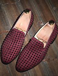 Men's Loafers & Slip-Ons Comfort Leather Summer Casual Comfort Flat Heel Black Blue Burgundy Flat