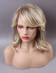 Beautiful Long Capless Wigs Natural Wavy Ombre Human Hair