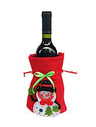 jeu joyeux noël père noël couverture sacs claus bouteille de vin dîner noël table de fête décor sacs rouges