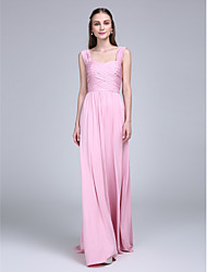LAN TING BRIDE Floor-length Straps Bridesmaid Dress - Elegant Sleeveless Jersey