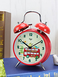 Alarm Clock with Matel Case In Red Color With Night Light